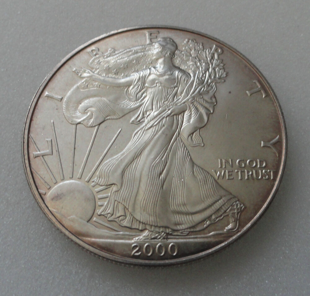 2000 Silver Eagle 1 Troy Ounce 999 Pure Silver Ebay