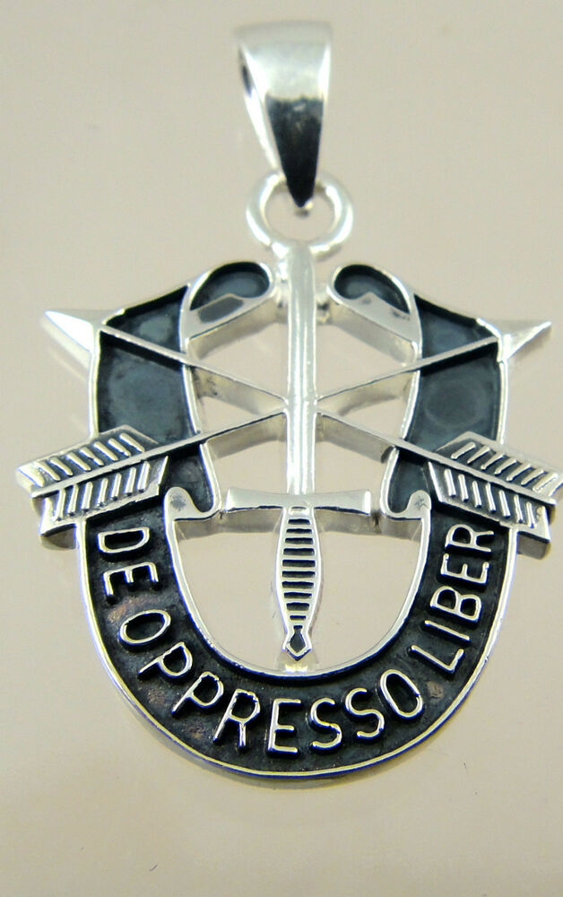 us army special forces pendant solid sterling 925 de