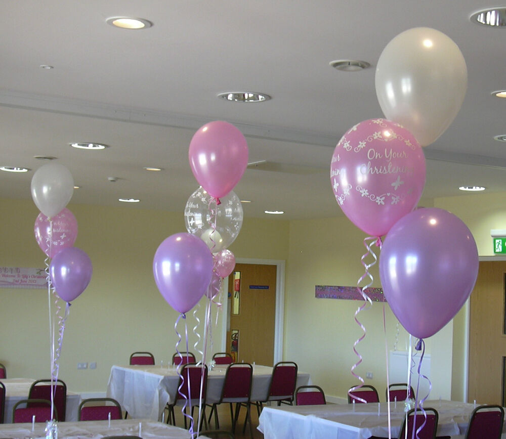 Christening balloon cluster diy party kit for boy or girl
