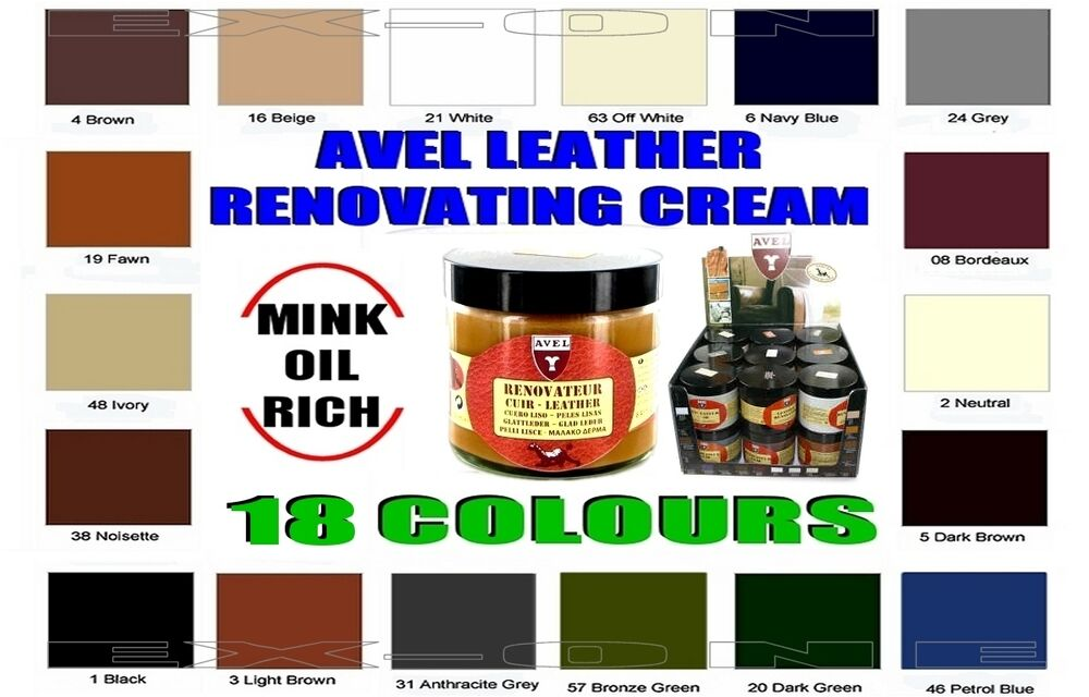 Leather Colour Restoration Cream Mink Oil Leather