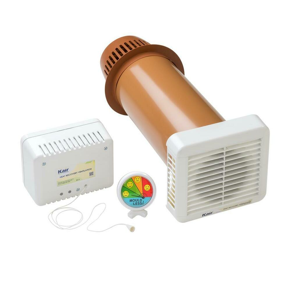 Room To Room Ventilation Fans : Kair single room heat recovery condensation ventilation