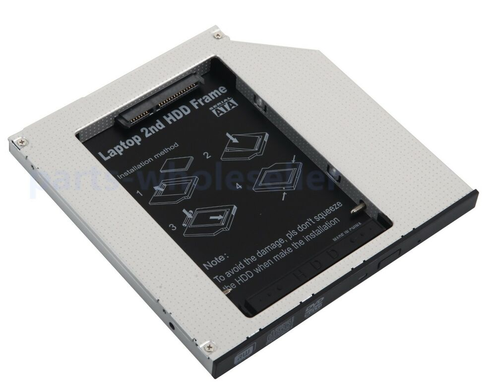 2nd pata ide hd ssd hard drive optical bay caddy for macbook pro early 2008 2007 ebay. Black Bedroom Furniture Sets. Home Design Ideas