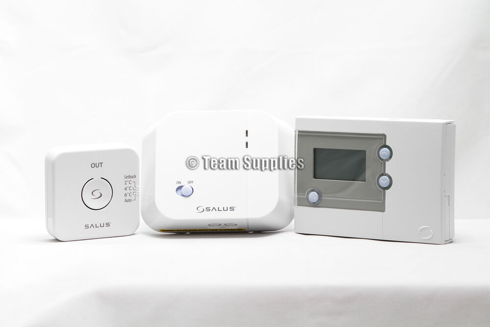 salus wireless programmable thermostat electronic central. Black Bedroom Furniture Sets. Home Design Ideas