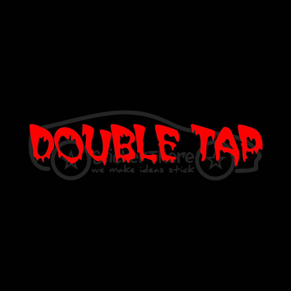Double Tap Sticker Funny Zombie Killer Vinyl Decal Rules