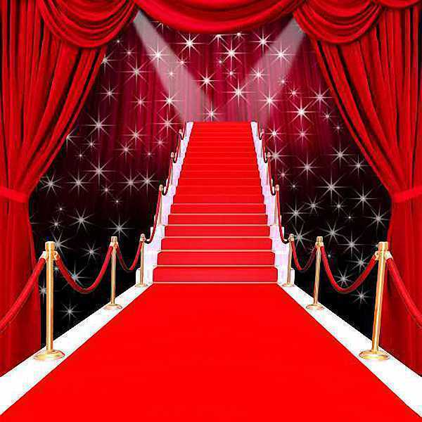 Red Carpet Stage 10x10 CP Backdrop Computer painted