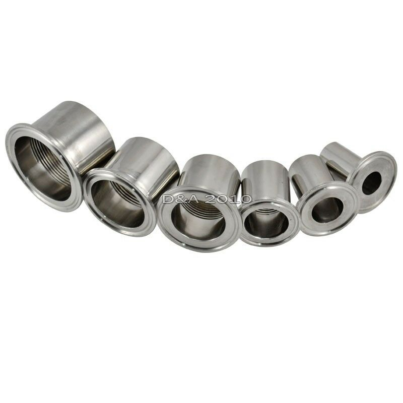 Quot dn sanitary female threaded pipe fitting fits tri