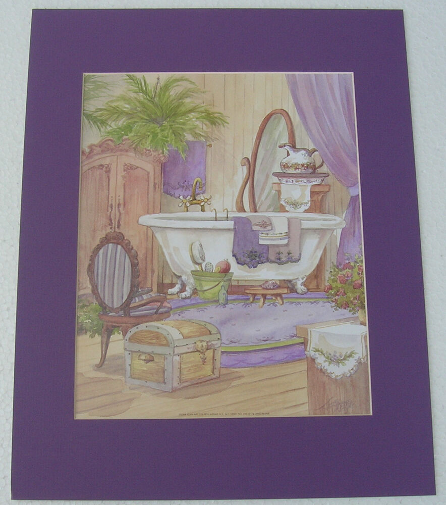 Bath Prints Unframed Matted Country Picture Print Interior