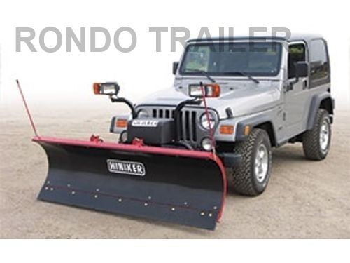 new 7 39 jeep snow plow perfect fit complete everything u need ebay. Black Bedroom Furniture Sets. Home Design Ideas