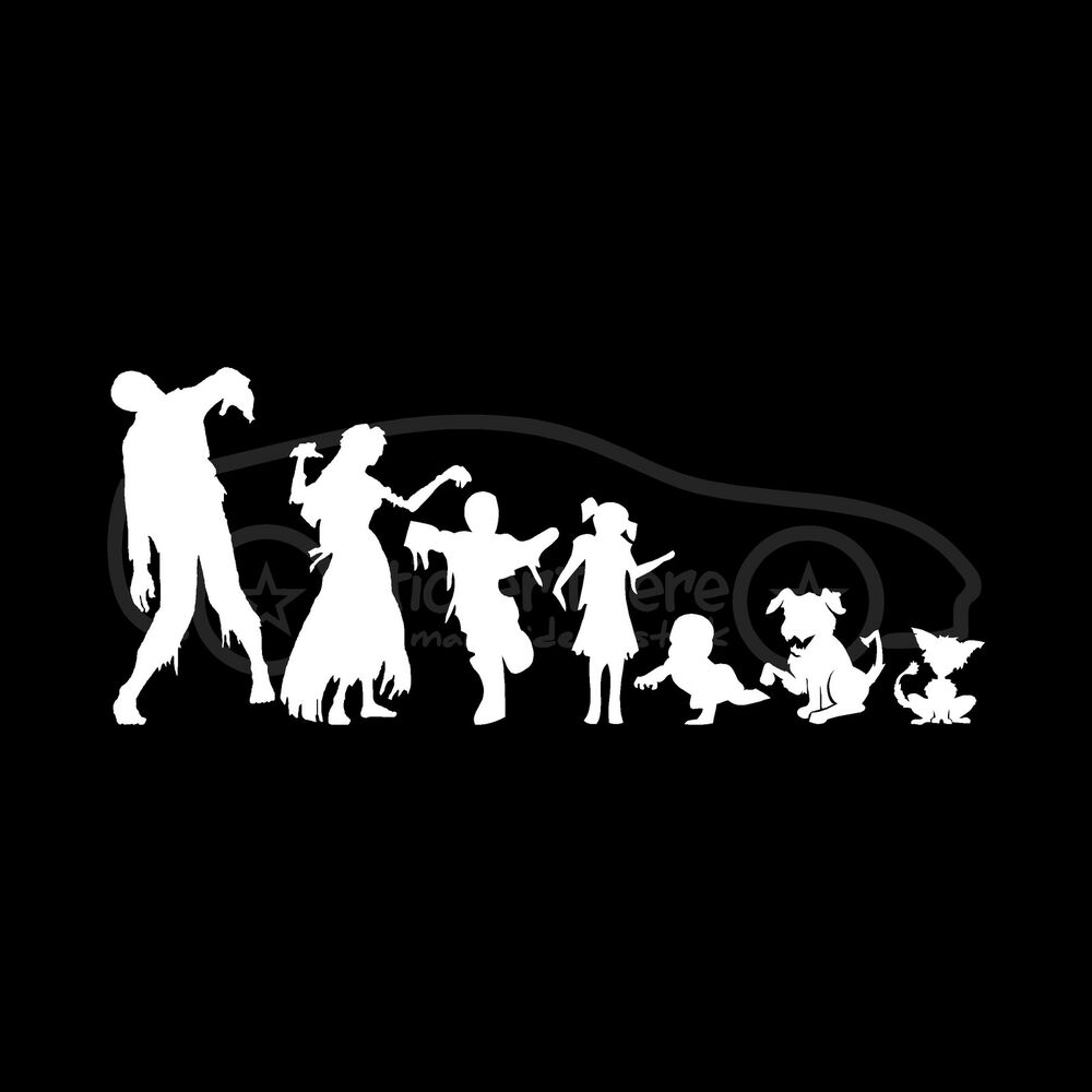 Zombie Family Stickers Car Truck Window Vinyl Decal Mom