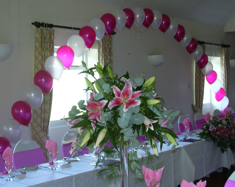 Top table buffet large helium balloon arch diy kit