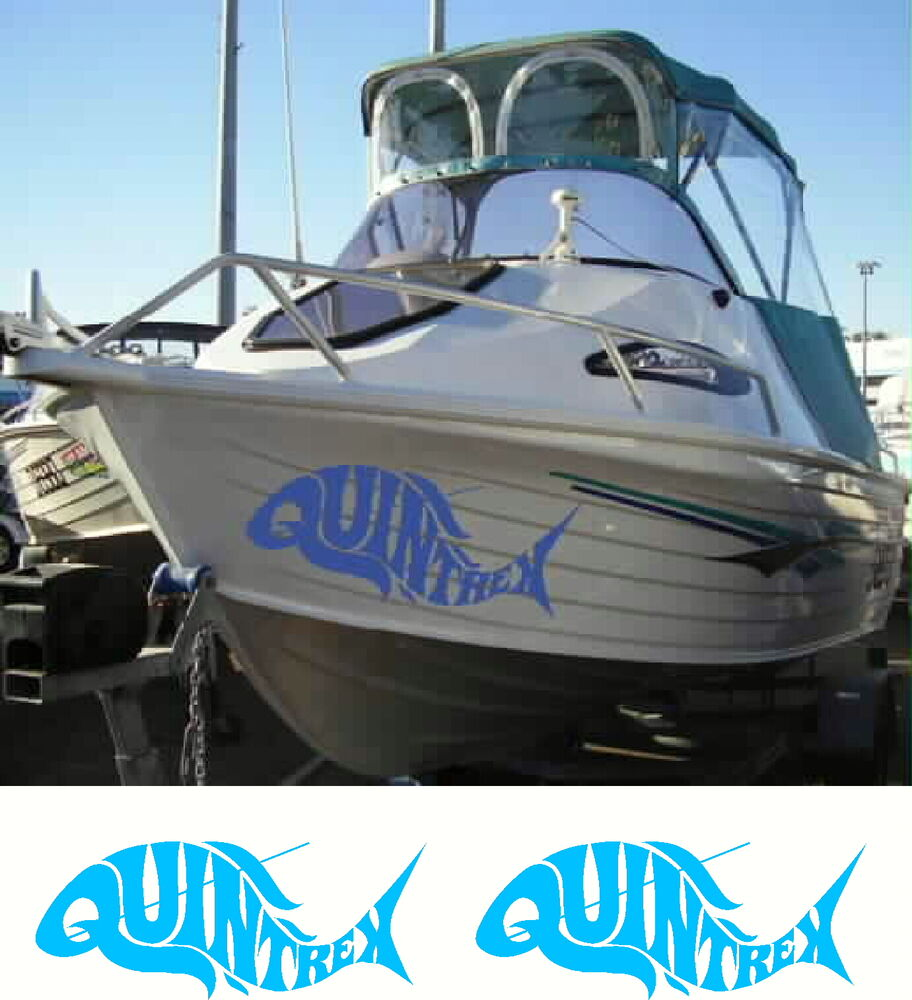 Quintrex Fish Fishing Boat Sticker Decal Set Of 2 Ebay