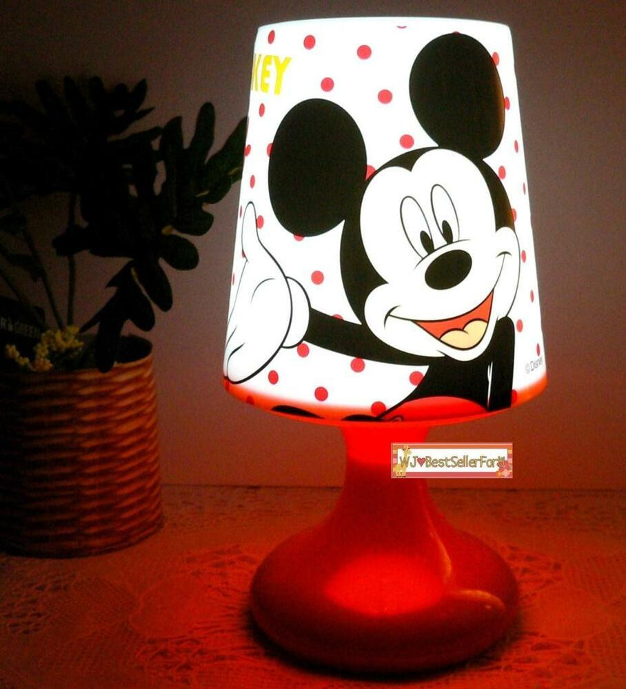 2 functions mickey minnie mouse twilight night light kids. Black Bedroom Furniture Sets. Home Design Ideas