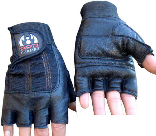 Hompo Ladies Gloves Bodybuilding Fitness Weight Lifting: Leather Weight Lifting Gloves Padded Gym Body Building
