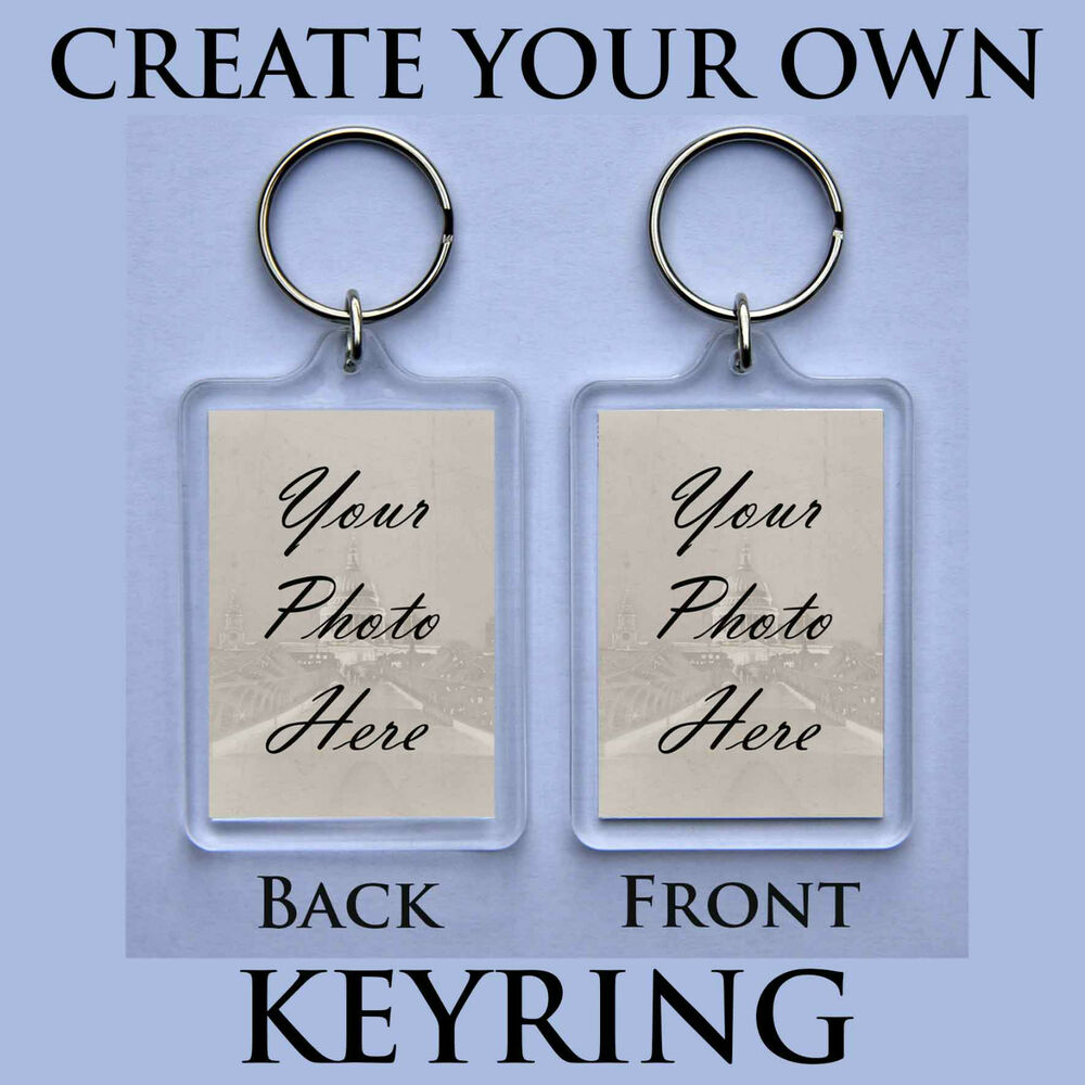 Personalised keyring create your own keychain superb for Create your own