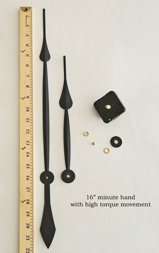 Make Or Repair A Large Wall Clock W 16 Quot Hands Amp High