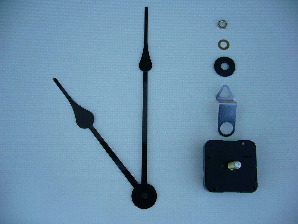 High Torque Clock Movement Extra Long Spindle Black 230mm