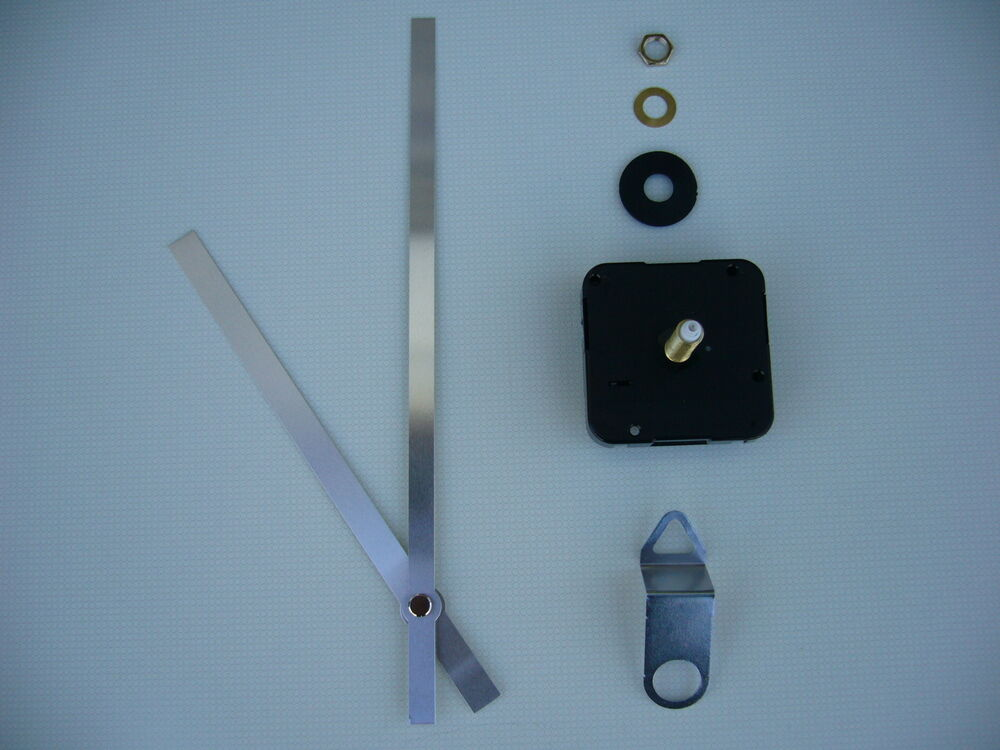 High Torque Clock Movement Extra Long Spindle 170mm Silver