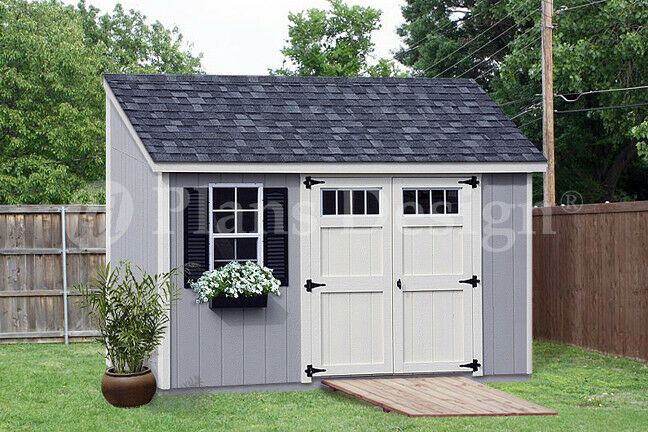 Storage shed plans 6 39 x 12 39 deluxe lean to slant for Lean to house designs