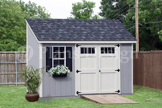 Storage shed plans 6 39 x 12 39 deluxe lean to slant for Material list for shed