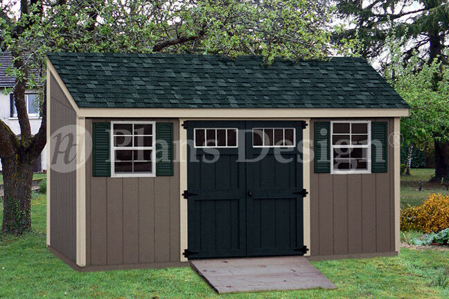 Storage Shed Plans 6 X 16 Deluxe Lean To Slant