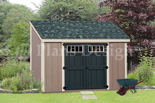 Shed Plans 6 x 10 Deluxe Lean To Roof Style D0610L