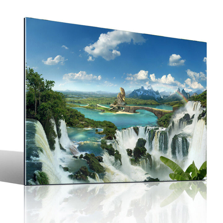 once upon a time acrylglas bild landschaftsbilder fantasy kunst fotocomposing ebay. Black Bedroom Furniture Sets. Home Design Ideas