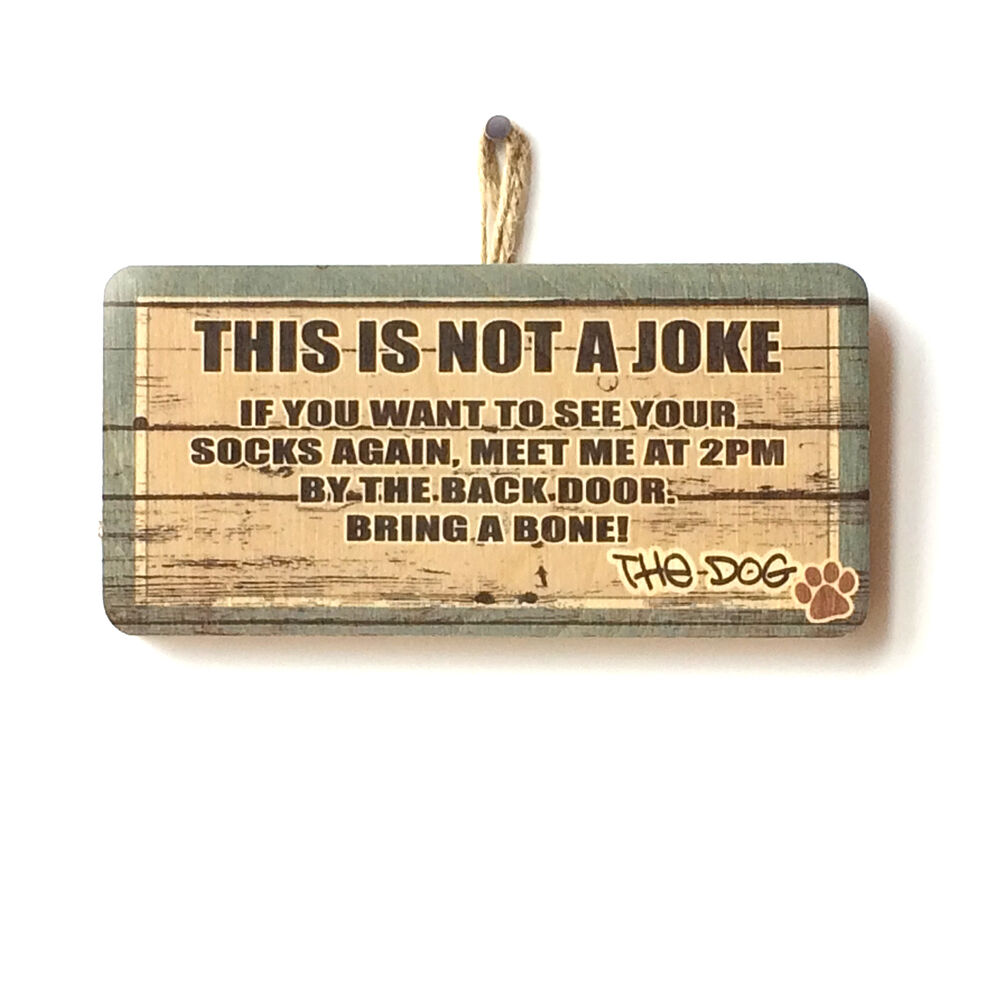 This Is Not A Joke Funny Message From The Dog Sign Gift