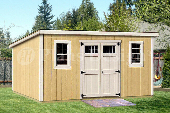 8' X 16' Deluxe Shed Plans, Modern Roof Style, #D0816M