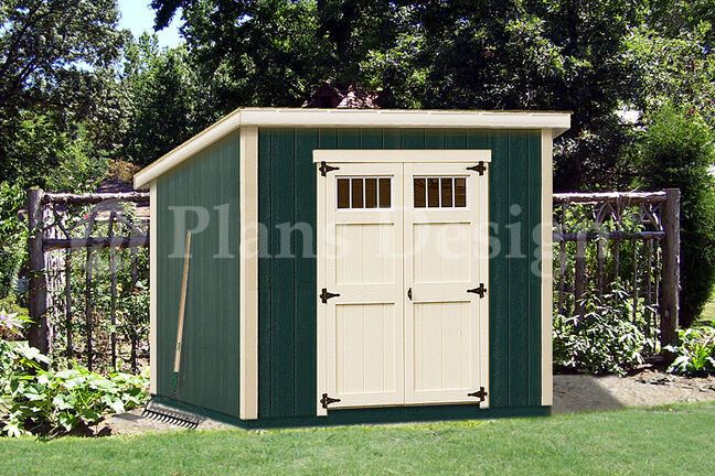 6 39 X 8 39 Deluxe Shed Plans Modern Roof Style D0608m