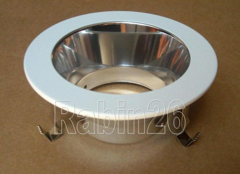 4 Quot Recessed Can Light Smooth Chrome Reflector Open Trim
