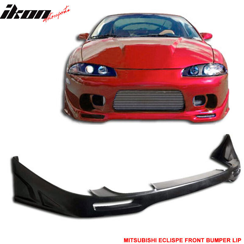 Details About Fits 97 99 Mitsubishi Eclipse PU Front Bumper Lip Spoiler Urethane Body Kit