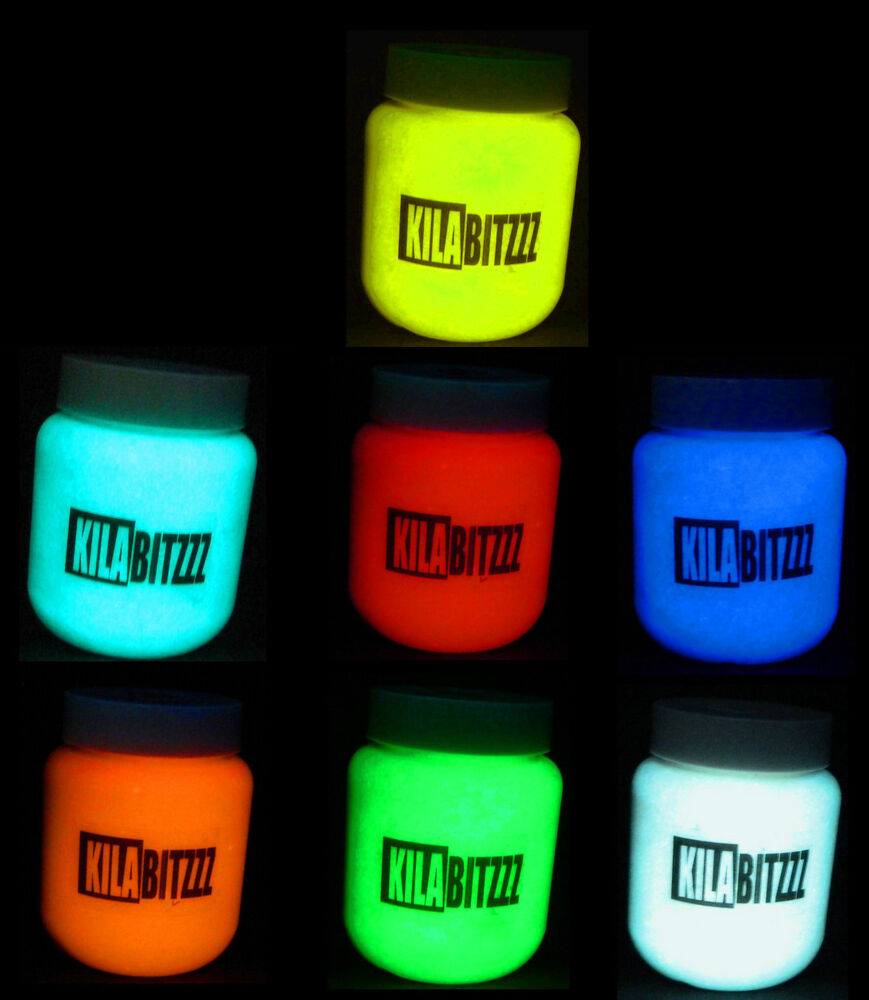 30ml high quality zuperpaint acrylic glow in the dark paint choose a colour ebay - Rust oleum glow in the dark paint exterior collection ...