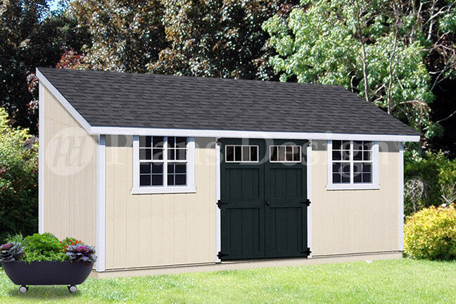 10 39 x 20 39 outdoor structure building storage shed plans for Lean to house plans
