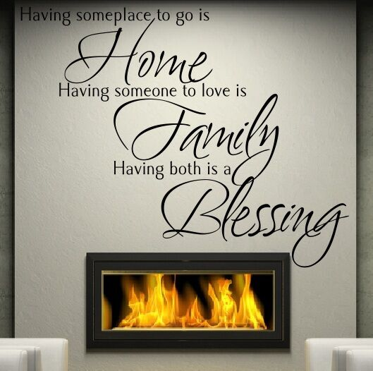 Wall Quote Sticker Home Family Blessing VINYL WALL ART