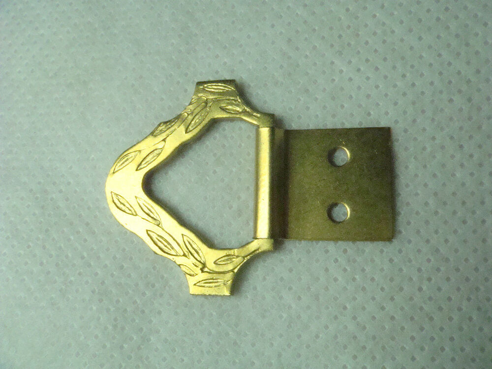 20 Small Brass Plated Decorative Triangle Picture Hangers