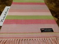 New 100% CASHMERE Pink Green Scarf Check Plaid Women Men Warm SCOTLAND Wool Q56