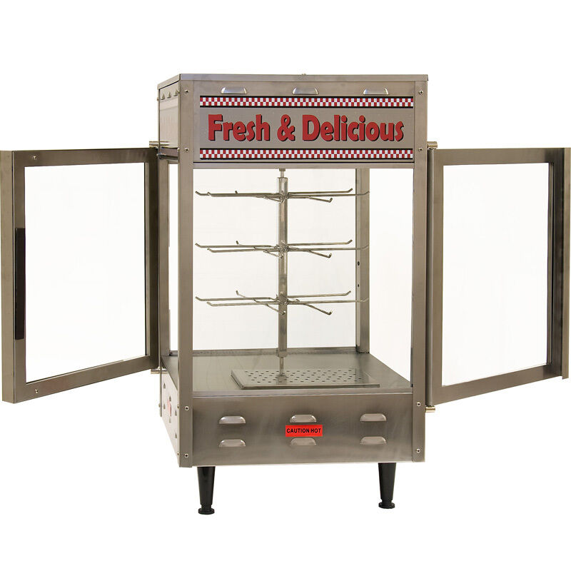 Commercial Food Warmer Cabinet ~ Rotating heated display cabinet food warmer commercial