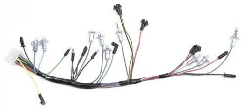 67 mustang gt instrument cluster wiring harness w tach. Black Bedroom Furniture Sets. Home Design Ideas