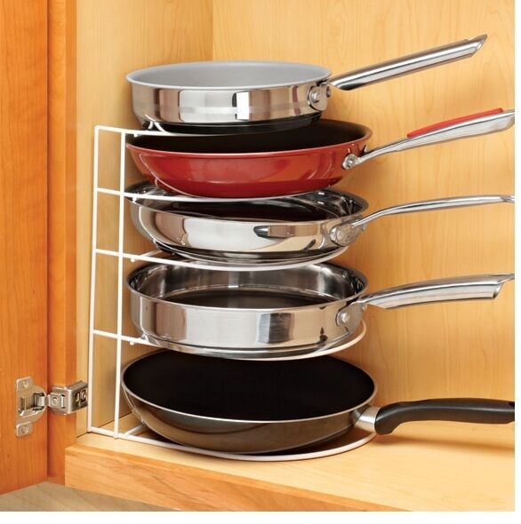 kitchen pot organizer frying pan organizer save space and cookware in 2461