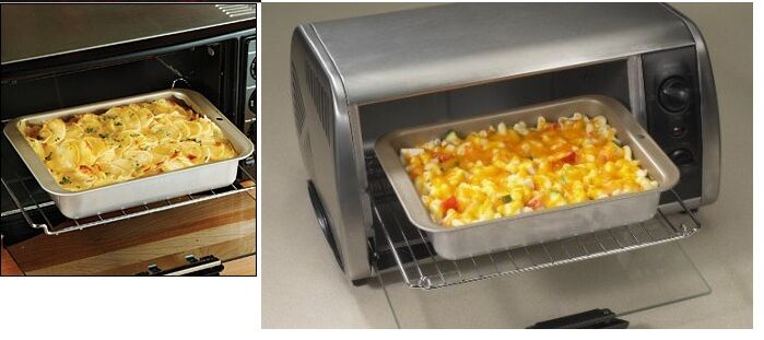 Nonstick Toaster Oven Casserole Baking Pan Bakes Perfect