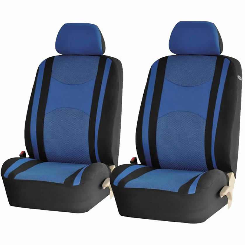 4pc blue airbag compatible poly mesh net front car seat covers set for ford ebay. Black Bedroom Furniture Sets. Home Design Ideas