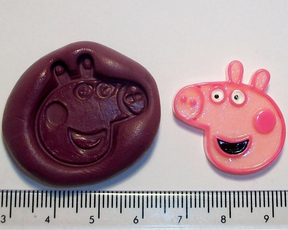 Peppa Pig Silicone Mould Sugarpaste Flower Paste Cup Cake