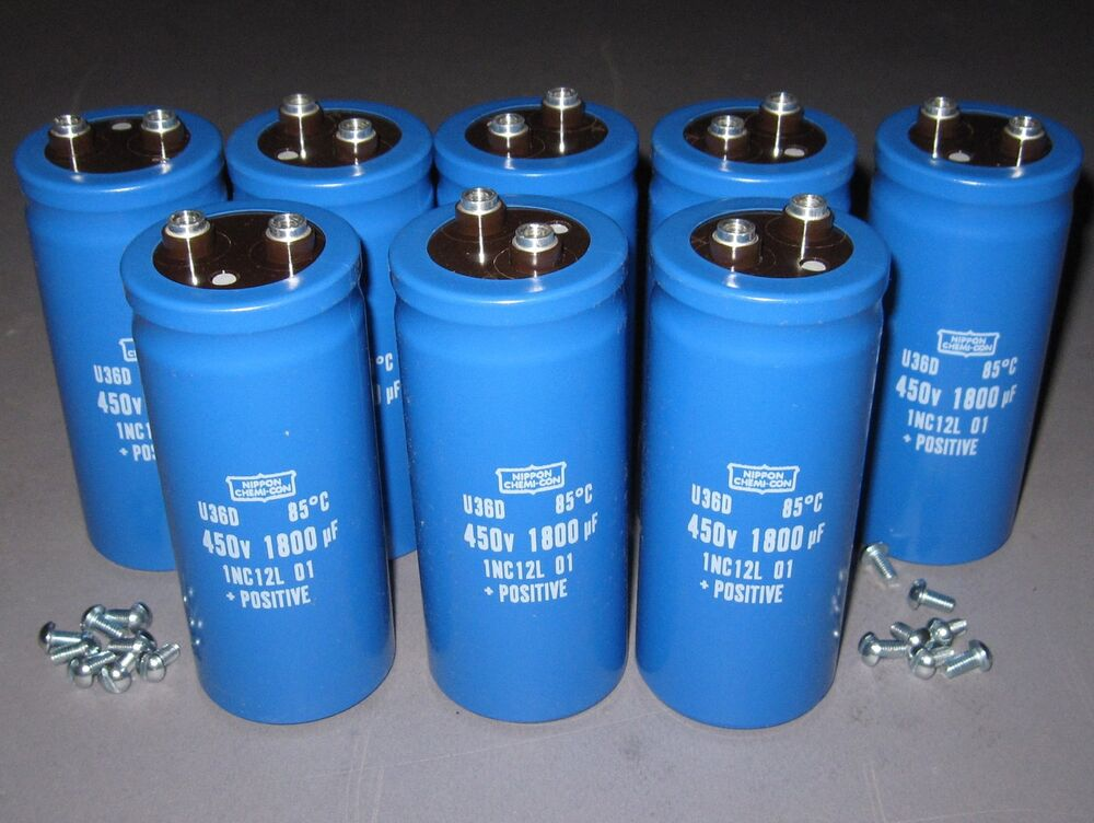 Lot Of 8 450v 1800uf Electrolytic Capacitors High