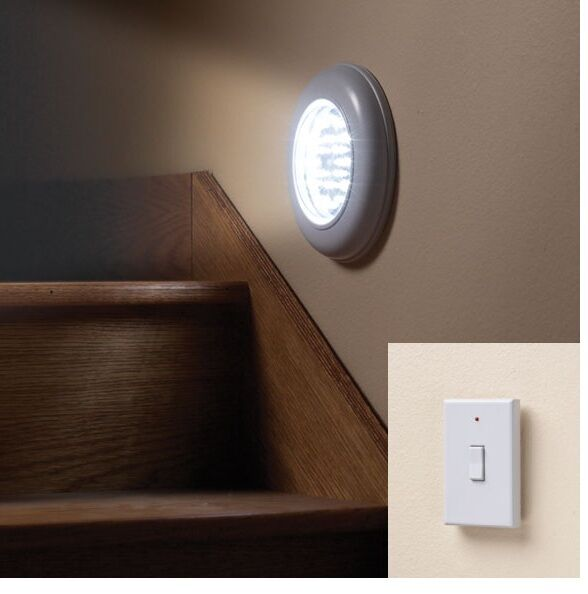 Wall Battery Light Fixture : Cordless Electric Light With Remote, Ceiling Or Wall Light Fixture, Bright Room eBay