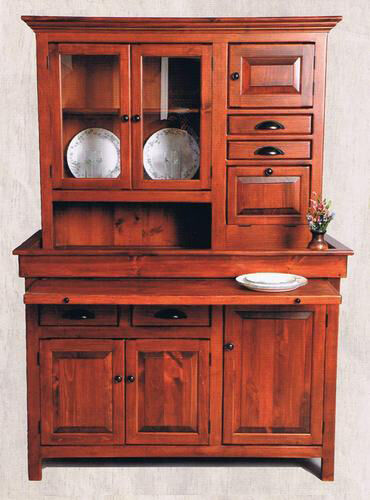 Large Pine Hoosier Cabinet, USA made Antique Reproduction ...