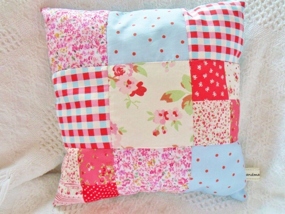 Patchwork cushion kit cath kidston fabric sewing kit easy for Crafts that sell on ebay