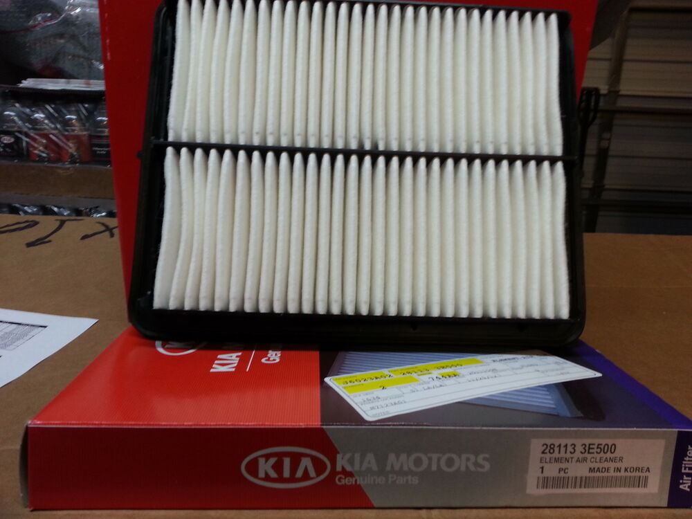 2007 2009 kia sorento air filter part 28113 3e500 oem. Black Bedroom Furniture Sets. Home Design Ideas