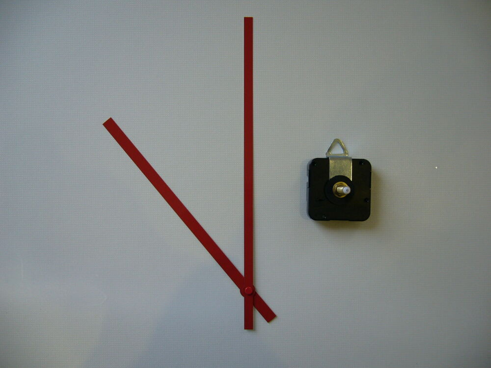 High Torque Clock Movement Extra Long Spindle 250mm Red