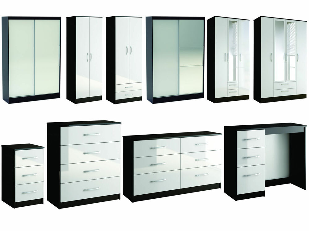 gloss bedroom furniture wardrobe chest by birlea large sizes ebay