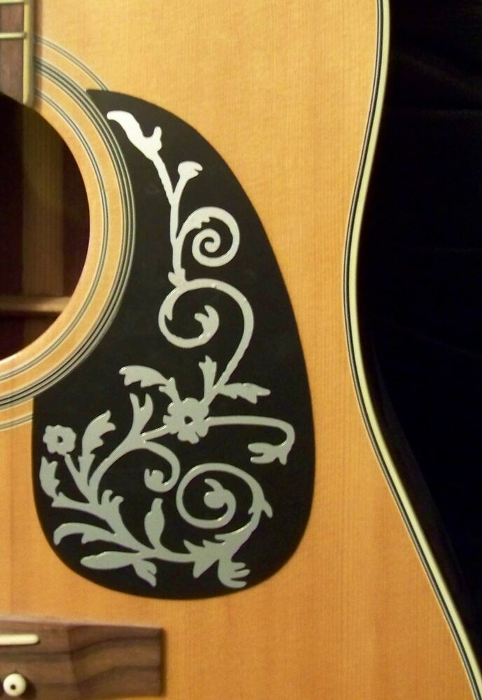 guitar pick guard decal vine of life decal sticker ebay. Black Bedroom Furniture Sets. Home Design Ideas